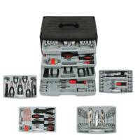 99 Pcs Mechanic Tool Set With Drawer Hand Tool Set Tool Box Wrenches Socket Kit