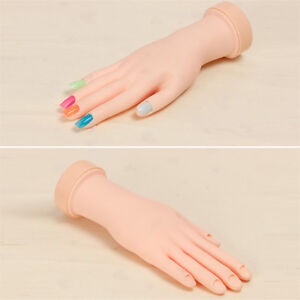 Fake Hand For Nail Art Training And Display Movable Practice Nail Tools Model MB