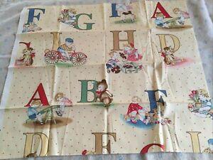Cotton Fat Quarter Aphabet / Child's Pattern Bright Colours (2)