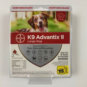 Bayer K9 Advantix II Flea & Tick Treatment for LARGE Dogs - 2 Monthly Doses