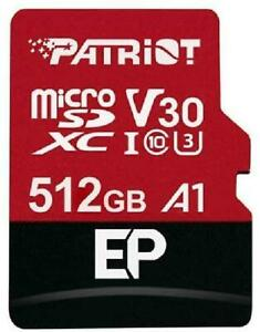 Patriot 512GB EP Series A1 / V30 Support microSD Card SDXC Android Smartphone an