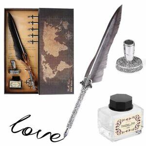 Schreibfeder Feather Dip Füllfederhalter Kalligraphie + 5 Feder Set Geschenkset