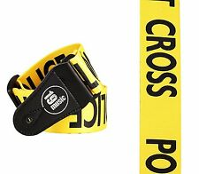 POLICE LINE Guitar Strap (1543) YELLOW do not cross iconic bass adults kids funk