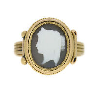 Victorian Cameo Ring In 15ct Yellow Gold