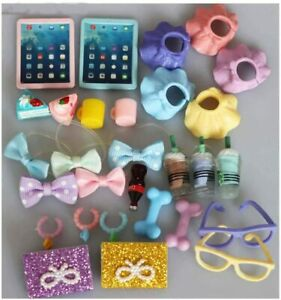 LPS Accessories Lot Random 10PCS Laptop Clothes Skirt Collars Food Drink Glasses