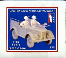PMC 1:35 Gaz-69 Crew Middle Eastern / Cuban 2 Resin Figures Kit #35001