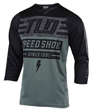 TROY LEE DESIGNS MENS GREEN BLACK RUCKUS BOLT 3/4 SLEEVE MTB CYCLE JERSEY SMALL