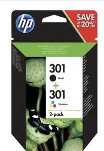 HP 301 Inkjet Cartridges - Black and Tri-Colour