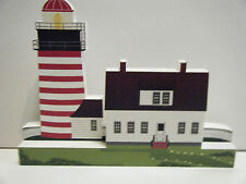 SHELIA'S SIGNED WEST QUODDY HEAD LIGHT WOODEN COLLECTIBLE