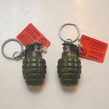 Grenade Shaped Military Tactics Refillable Butane Gas Flame Cigar Lighter