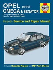 3157 Haynes Opel Omega & le sénateur ESSENCE (nov. 1986 - 1994) workshop manual