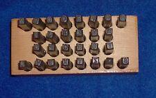 """1/8"""" Steel Stamp Letter Set-Sears & Roebuck in Wood Box-Punch-Die-Blacksmith"""