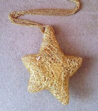 ORLANDINI Woven Gold STAR Necklace with Diamond in 18k Yellow Gold  - HM1424