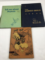 3 Vintage Christian Children's Books Animals of the Bible Heaven Christ Child