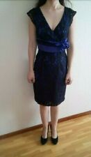 Vestido mujer TINTORETTO talla 38 azul marino y negro para bodas cocktail evento