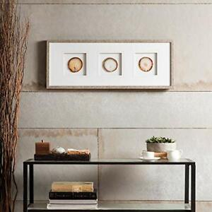 Madison Park Natural Agate Stone Trio Framed Wall Art - Natural - GallyHo