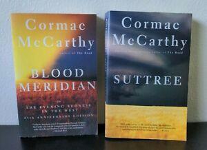 Cormac Mccarthy Vintage International Paperback Lot - Blood Meridian + Suttree