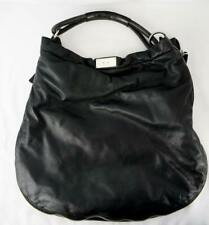 Marni Hobo Shoulder Bag Black Smooth Leather Zip Around Expandable Large