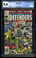 Defenders #49 CGC NM 9.4 White Pages Early Moon Knight Appearance!