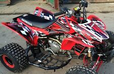 TRX 450R graphics Honda 450 ATV sticker kit FREE Custom Service NO2500 red
