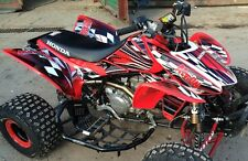 TRX 450R graphics Honda 450 ATV sticker kit FREE Custom Service NO2500 red