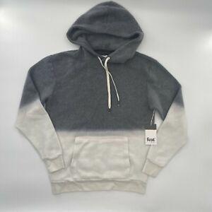 FEAT Blanket Blend Hoodie Sweatshirt Shadow Dip Dye Men's Women's S M NWT