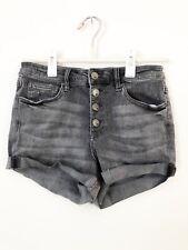 Tilly's RSQ High Rise Cuff Girls Grey Denim Shorts, Size: 3, Waist: 26