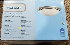 Kichler 380020TZBasic Low Profile 2 Light Tannery Bronze Fan Light Kit
