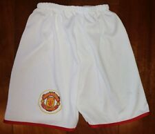 MANCHESTER UNITED Toddler White Red Trim Shorts Elastic Waist