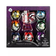 2019 Disney Store The Nightmare Before Christmas Ball Ornament Set & Tree Topper