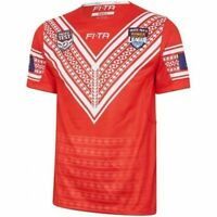 Tonga Rugby League Mate Ma'a Tonga Pacific Test Home Jersey Sizes S-7XL! T8