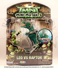2009 TMNT MINI MUTANTS-LEO vs. RAPTOR MOSC*NEW- PLAYMATES
