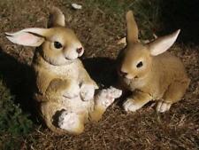 Hase Deko Figur Kaninchen lebensecht groß Hasen Osterhase Gartenfigur NEU