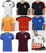 Adidas Originals 3 Stripes Mens Retro California Short Sleeve Crew Neck Tshirt