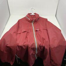 Vintage K-Way Windbreaker Jacket with yellow/orange stripes - Size Large