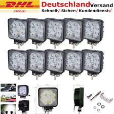 10x 27W Work Light Weiß LED Arbeitsscheinwerfer Scheinwerfer Traktor Strahler
