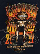 Harley-Davidson LACONIA Bike Week 2011 Motorcycles Black T-Shirt Sz.S