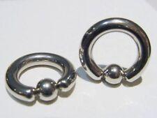 "PAIR OF 8g CBR 3/8"" inch NIPPLE RINGS BODY JEWELRY EARRINGS"