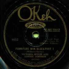VICTORIA SPIVEY & LONNIE JOHNSON (Furniture Man Blues) R&B/SOUL 78  RPM  RECORD
