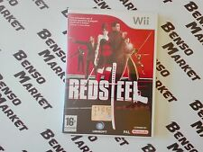 RED STEEL 1 NINTENDO WII e WIIU U PAL ITALIANO TRIANGOLO BLU COMPLETO COME NUOVO