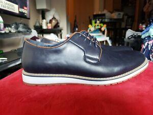 Harrison Myles Mens Blue Shoes Lace Up Shoes C 1701 Size 9 NWOB