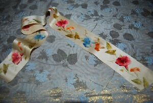 ANTIQUE FRENCH SILK VELVET FLOWERS TRIM