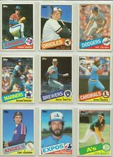 1985 TOPPS COMPLETE YOUR SET U-PICK 25 ( $ 2.50=10cents each)