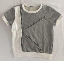 Kenzo Girls Gray zipper Short Sleeve Top Size 14