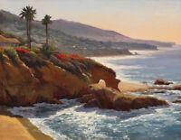 Art Print Coastal Landscape Oil painting Giclee Printed on canvas P147