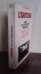Rene Varrin L Erotico All'Interno Di La Letteratura Francese 1969 Pensee Modern