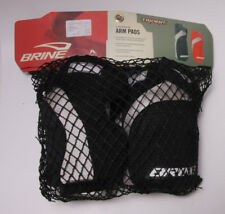 Brine Lacrosse Arm Pad Set - Medium Age 11+ Trident Black - Old Store Stock S05