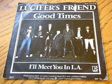 """Lucifer's Friend-Buenos Tiempos Vinilo De 7"""" PS"""