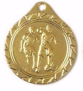 10 kleine Fußball-Medaillen mit Deutschland-Bändern (9279g)