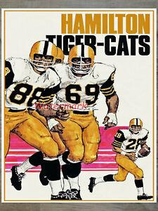 Vintage CFL Hamilton Tiger Cats Color Poster Print 8 X 10 Photo Picture